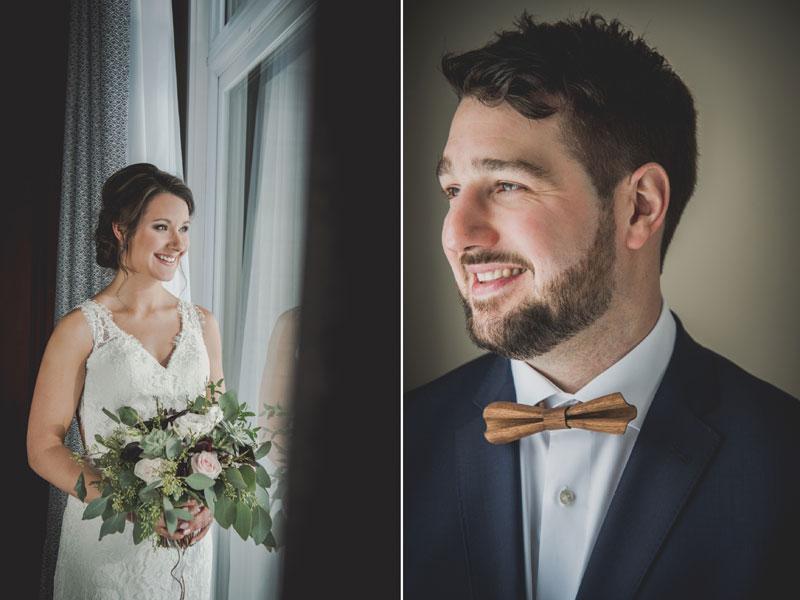 Portraits individuels des mariés