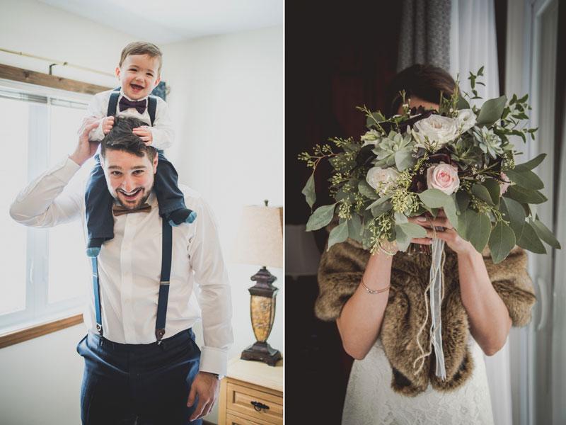 Les préparatifs des mariés