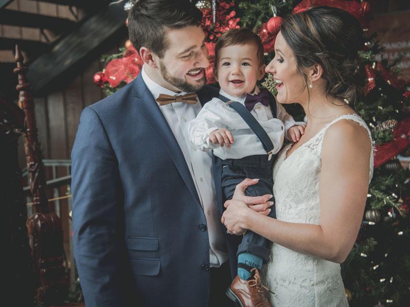 Les mariés avec le petit page
