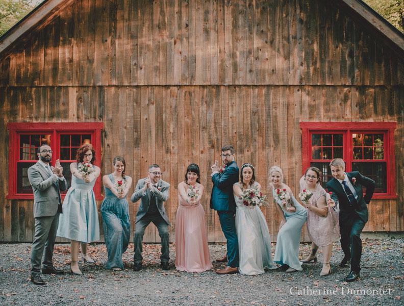 Les mariés et cortège à l'Auberge Handfield