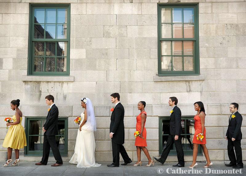 cortège de mariage dans le Vieux-Port