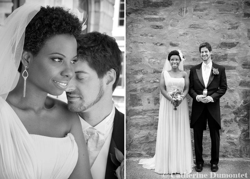 photos de mariage en noir et blanc