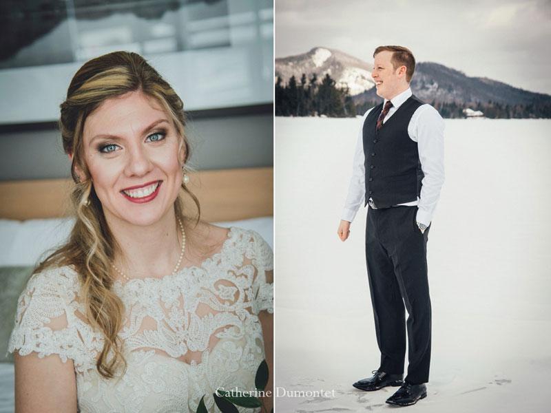 Les mariés au Elysium du Lac-Supérieur