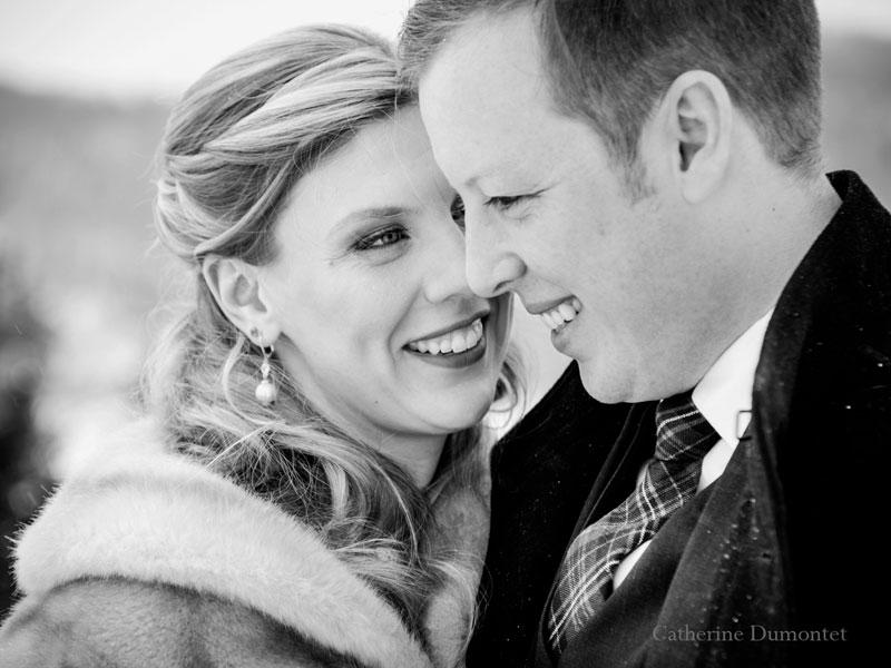 mariage d'hiver au Lac-Supérieur dans les Laurentides
