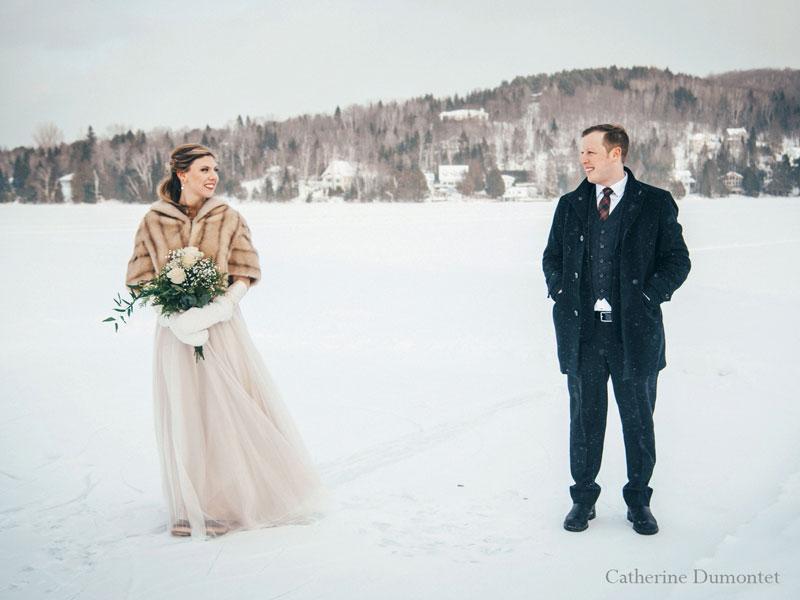 mariage en hiver à Tremblant au Lac-Supérieur