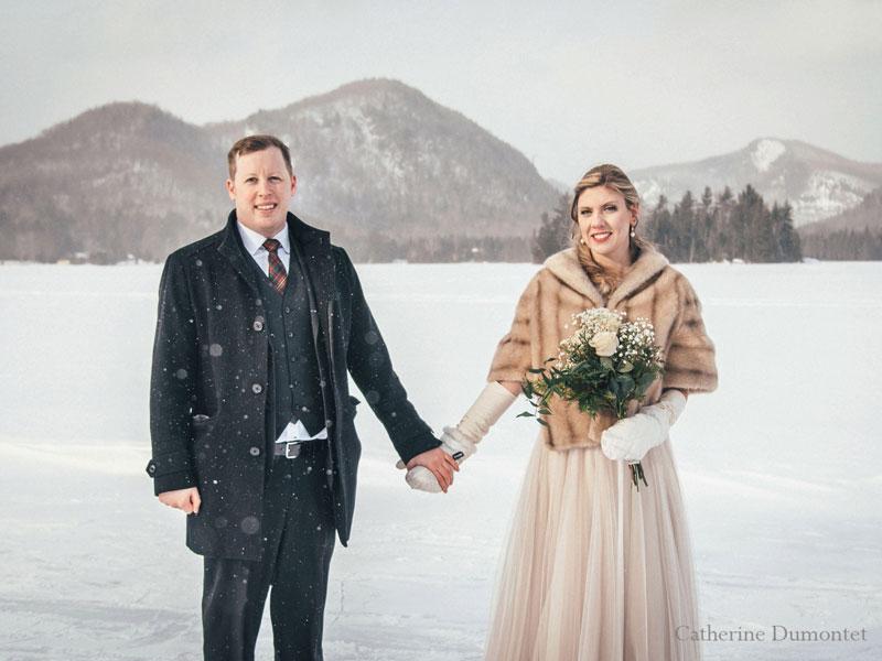 mariage d'hiver au Lac-Supérieur à Tremblant