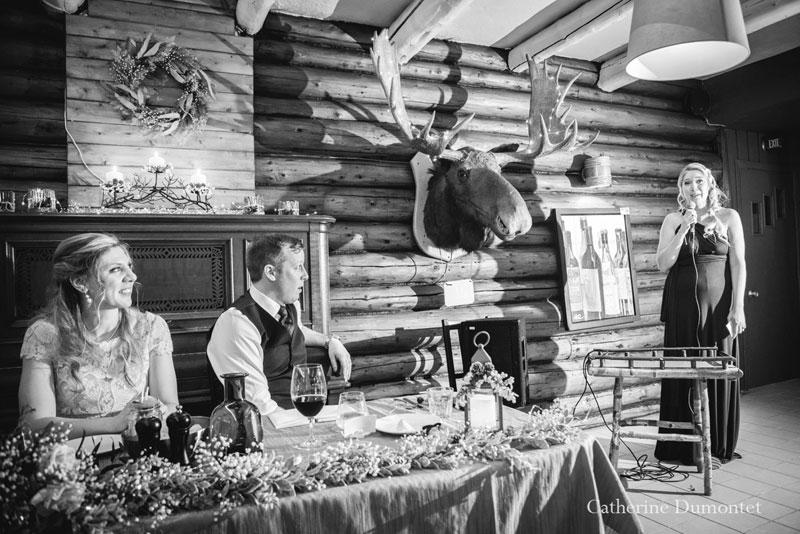 discours mariage au Resto Bar Le Rustique