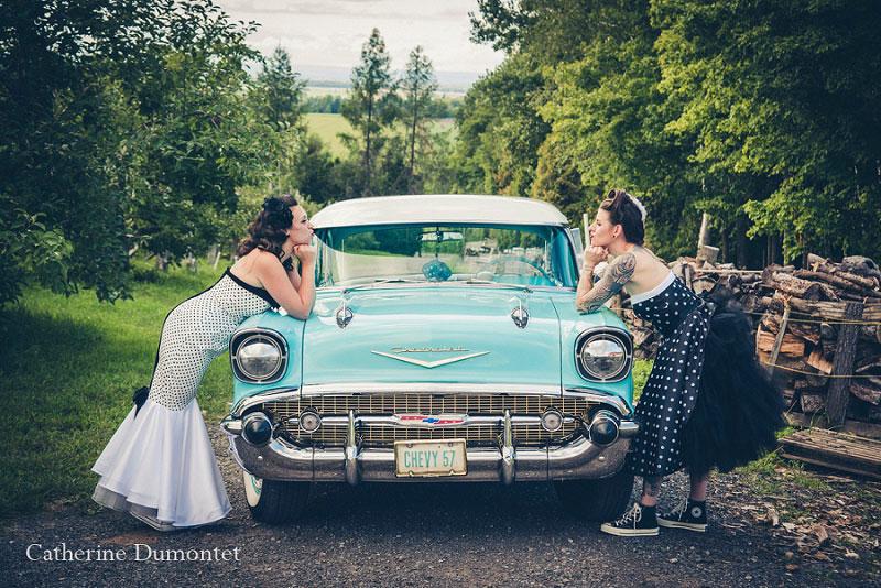 mariage thème rétro pin-up
