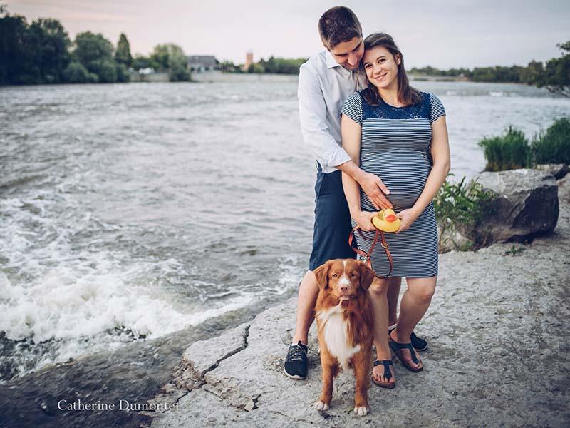 séance maternité à l'Île-des-Moulins