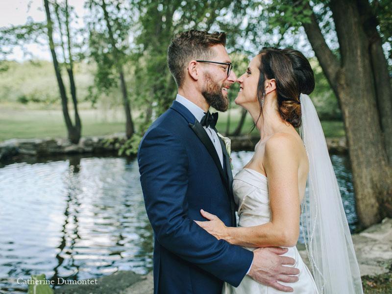 Les mariés au Manoir Grant
