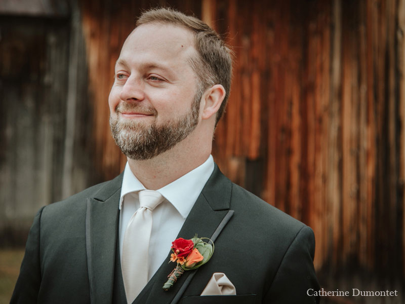 Portrait of the groom at Grand Lodge