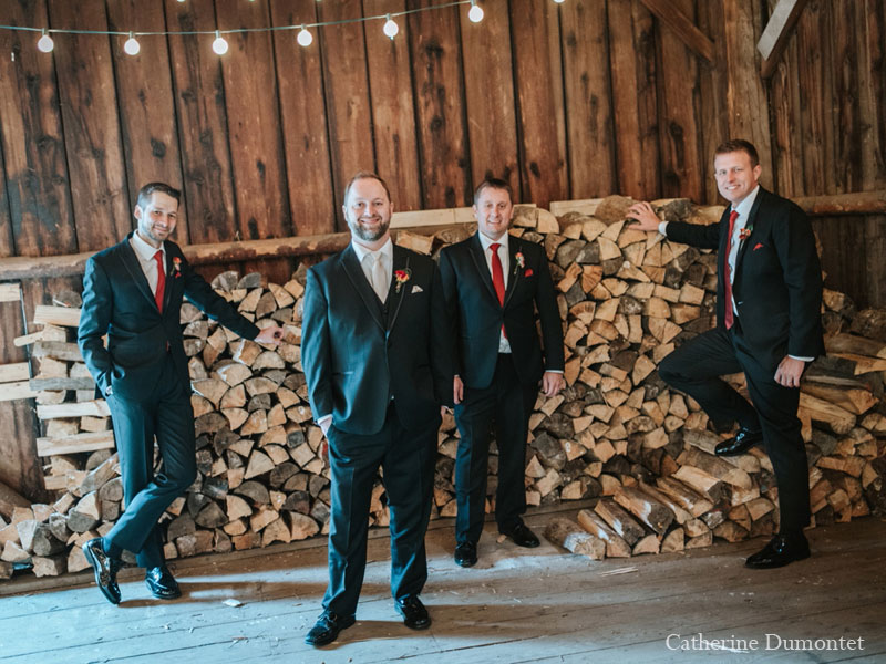 groom with groomsmen at Grand Lodge