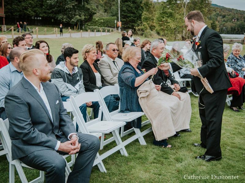 wedding ceremony at Grand Lodge Tremblant
