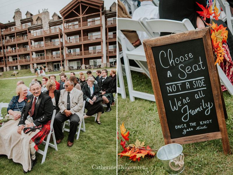 wedding ceremony at Grand Lodge Mont-Tremblant