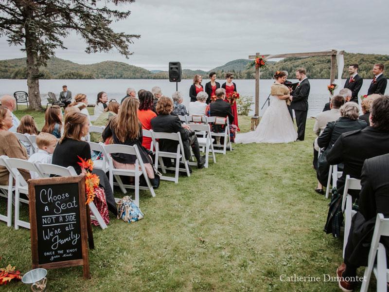 wedding ceremony at Grand Lodge