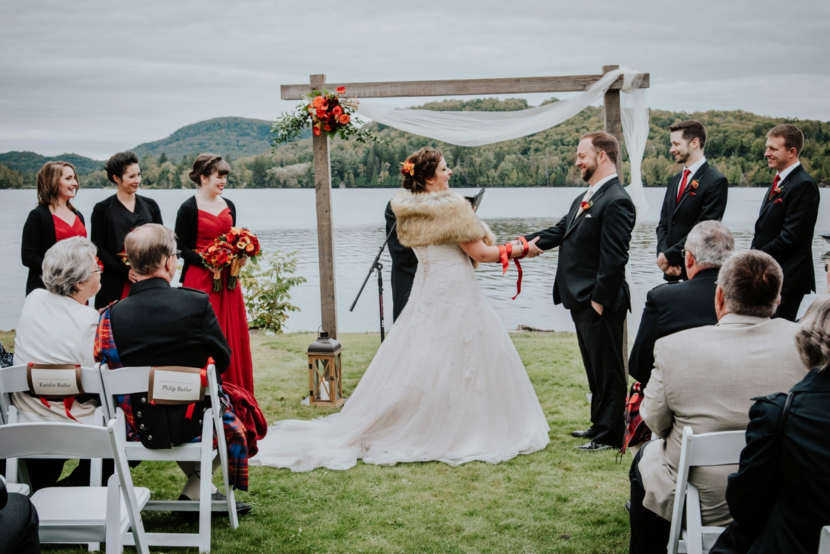 wedding ceremony by the lake Ouimet