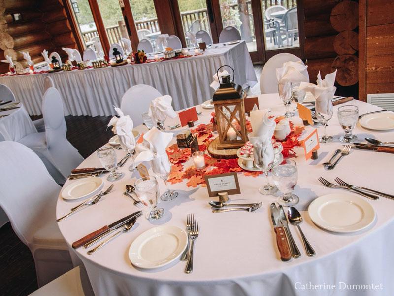 wedding decorations at Grand Lodge Tremblant