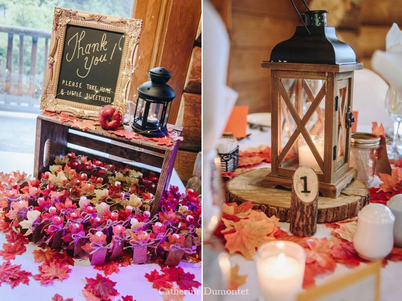 wedding decor at Grand Lodge Tremblant