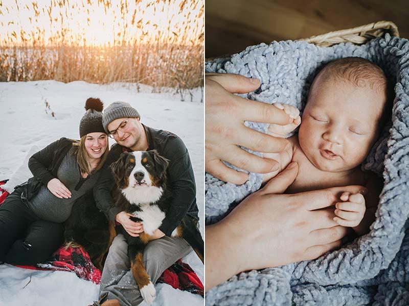 combo grossesse et bébé nouveau-né