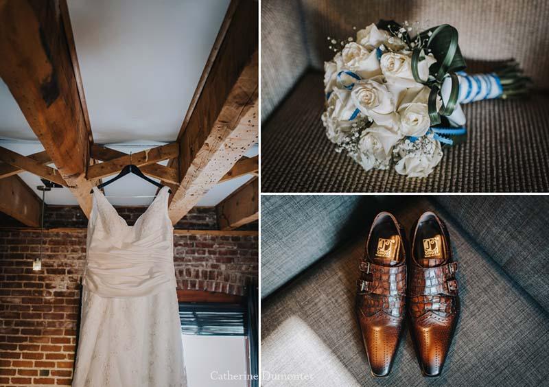 Accessoires des mariés en hiver