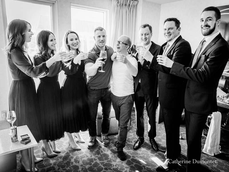 Toast du marié au SpringHill Marriott de Montréal
