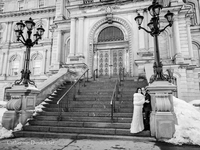 mariage en hiver dans le Vieux-Port de Montréal