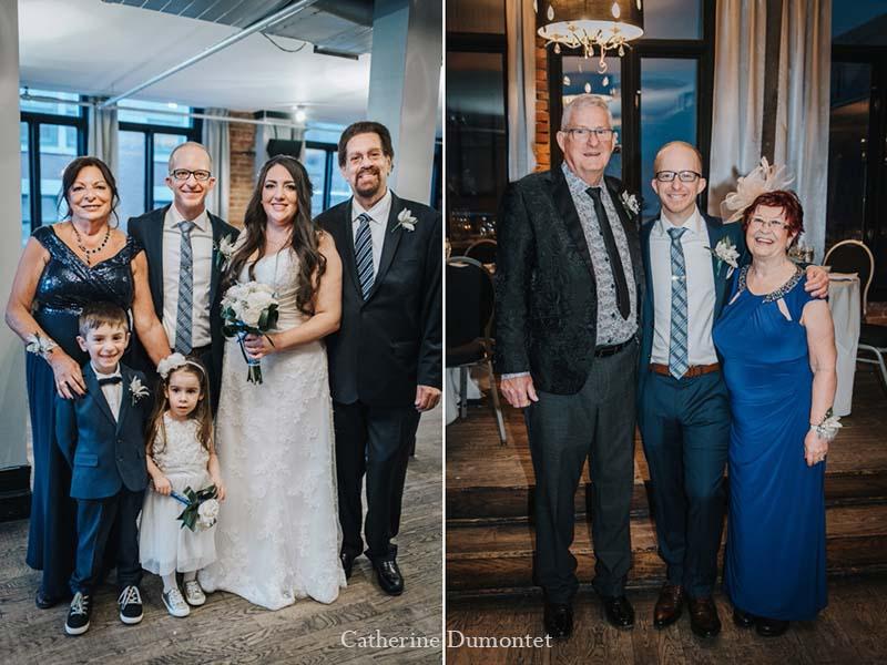 famille des mariés au Vieux-Port Steakhouse