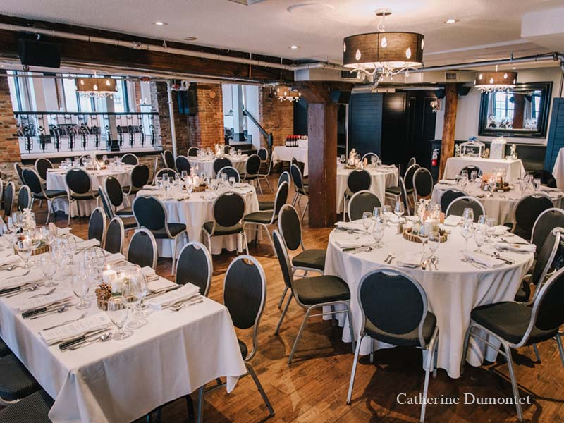 Salle de réception de mariage au Vieux-Port Steakhouse