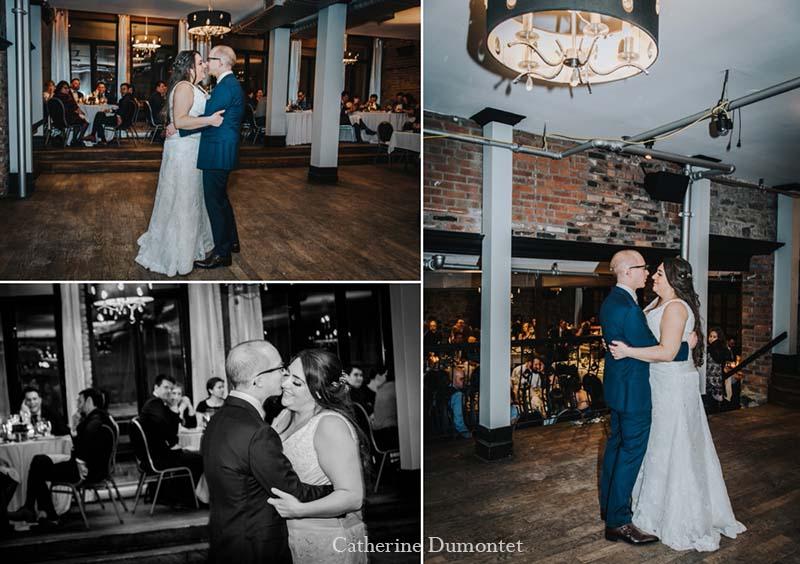 Première danse des mariés au Vieux-Port Steakhouse