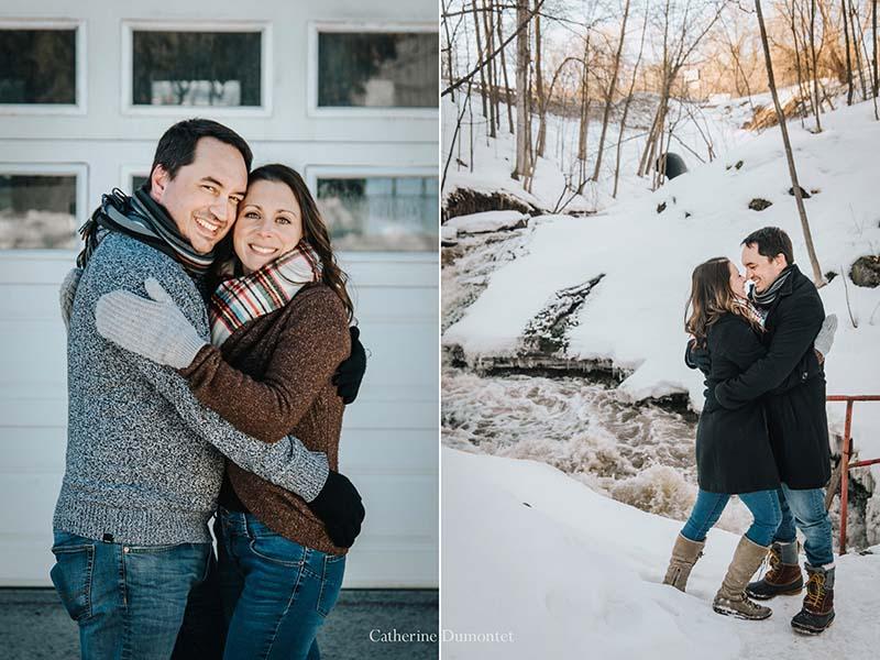 fiançailles en hiver à l'Abbaye d'Oka