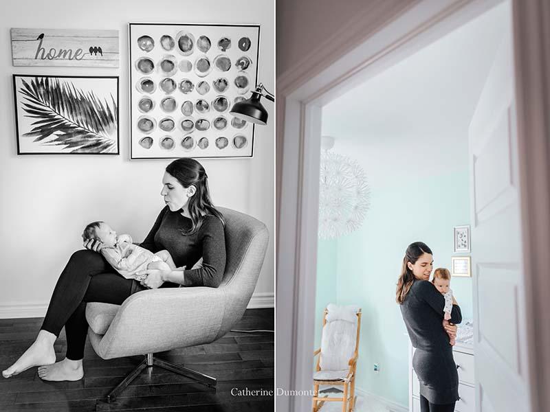 séance photo de bébé à la maison
