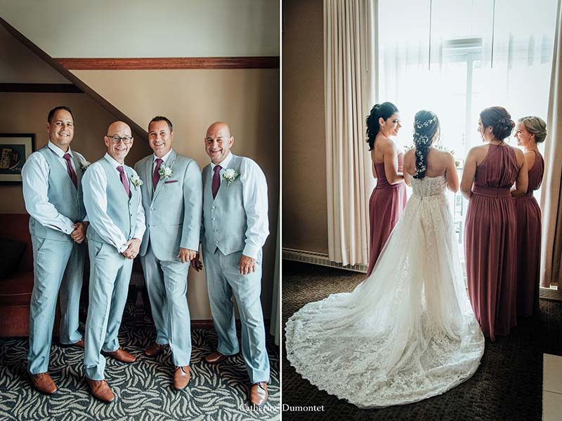 bridal party at Sommet des Neiges Tremblant