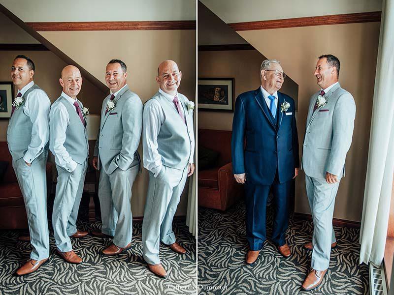 groom with groomsmen at Sommet des Neiges Tremblant