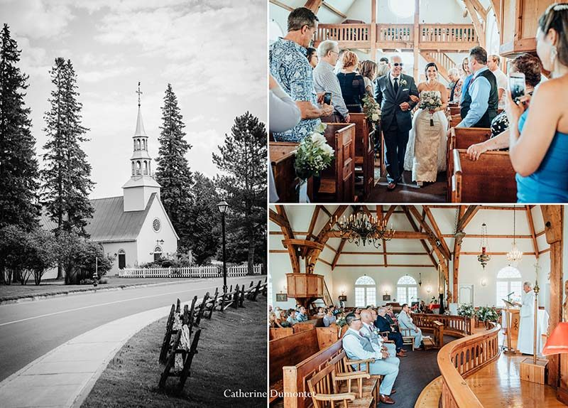 wedding at the Saint-Bernard Chapel in Tremblant