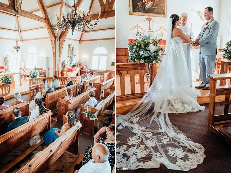 wedding at Saint-Bernard Chapel in Tremblant