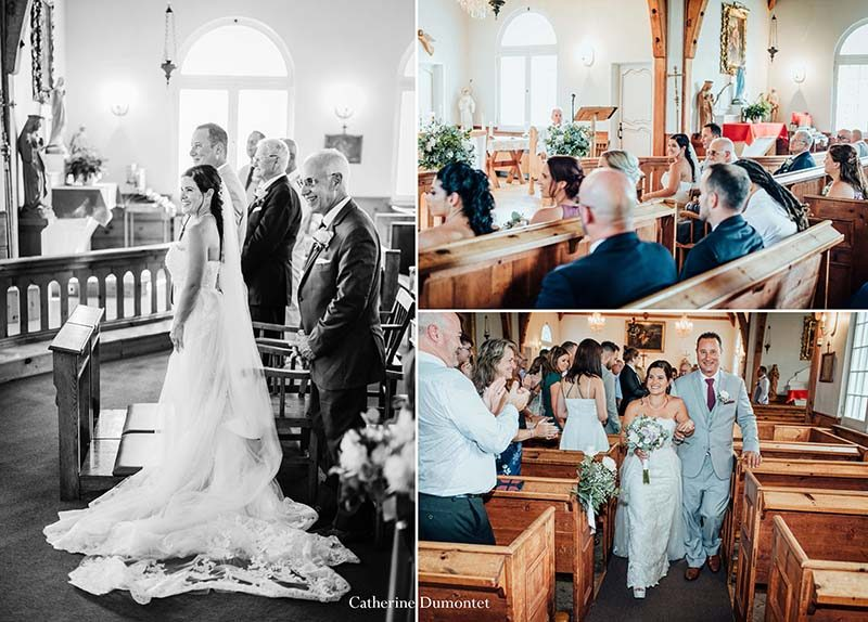 wedding at the St-Bernard Chapel in Tremblant