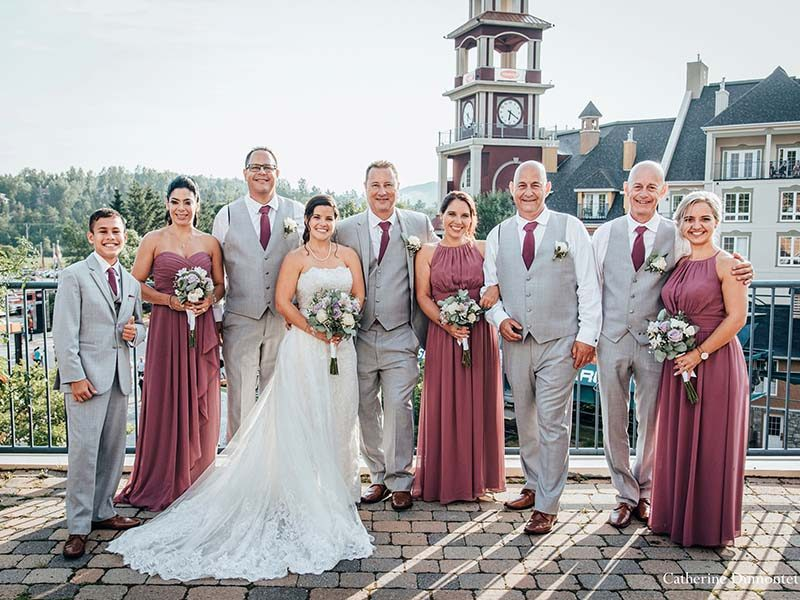 Bridal party at Somme des Neiges Mont-Tremblant