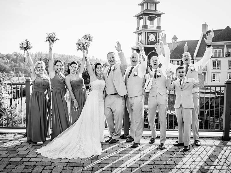 bridal party at Sommet des Neiges Tremblant