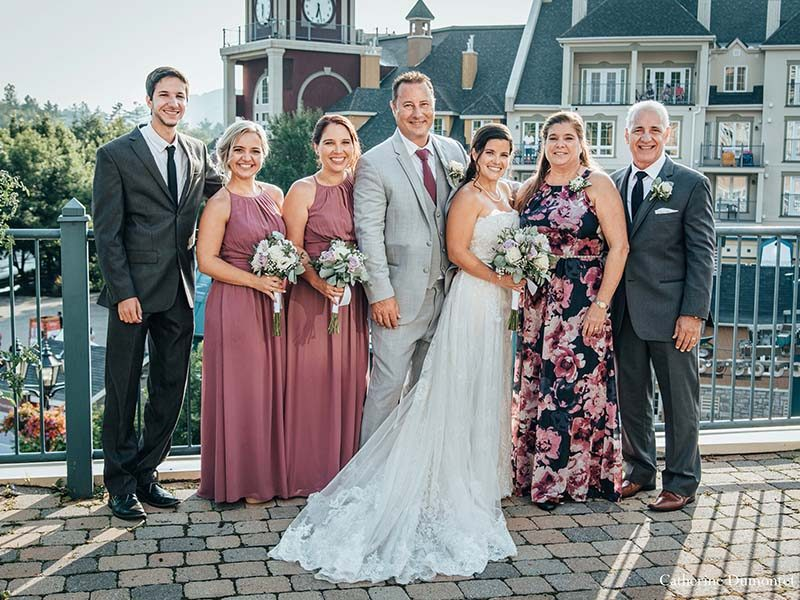 bride's family at Sommet des Neiges