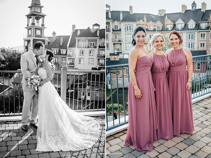 wedding in village Mont-Tremblant