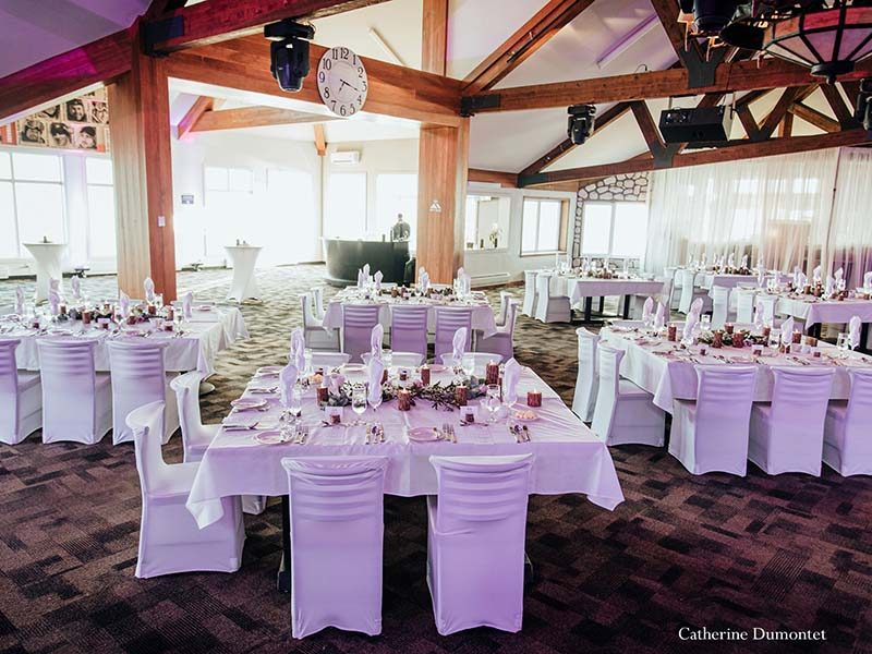 wedding decor at the Tremblant Grand Manitou