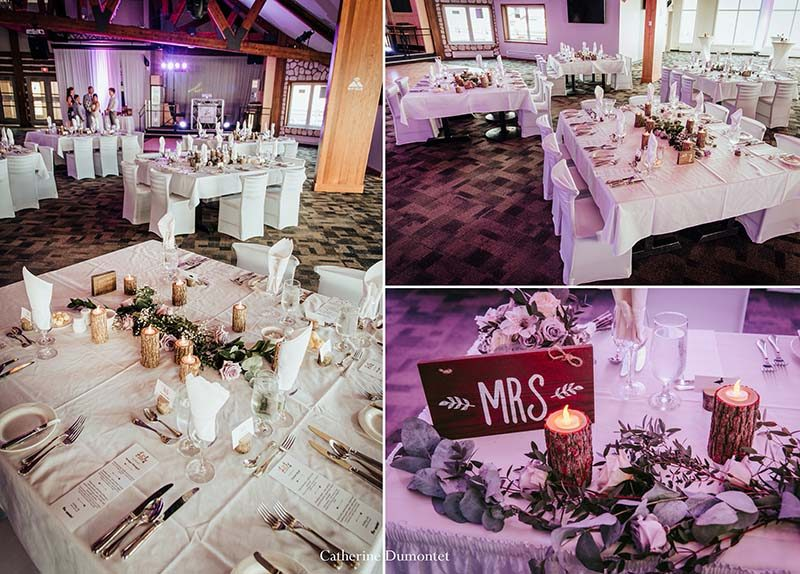 wedding decor at the Grand Manitou in Tremblant