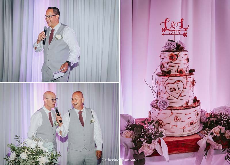 wedding cake and speeches at the Grand Manitou