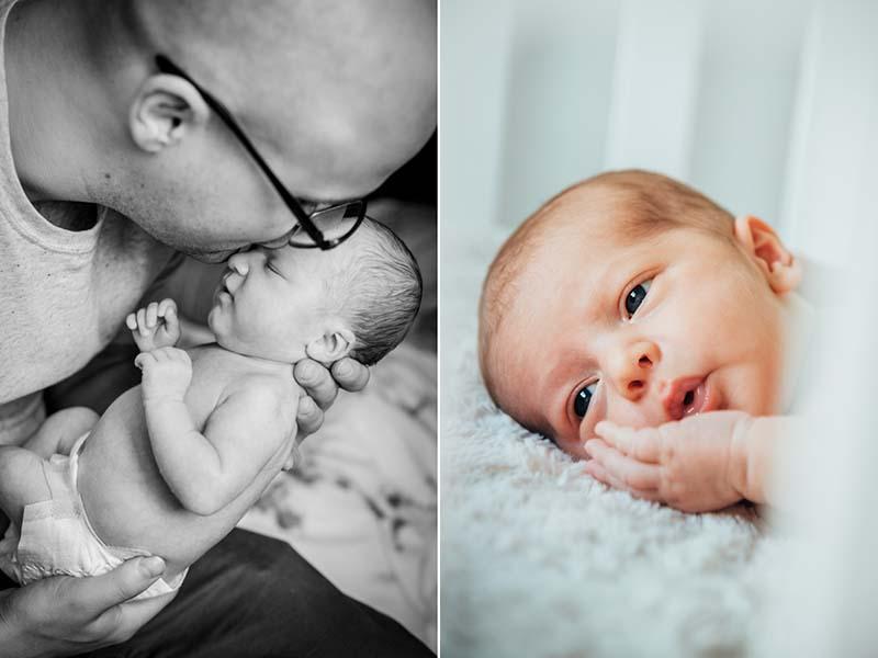 photos de nouveau-né à domicile