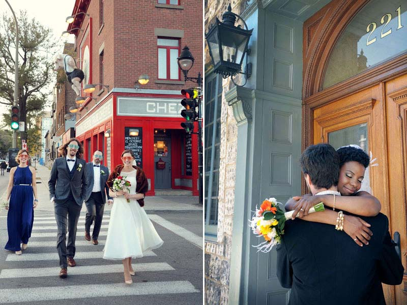 Mariage urbain à Montréal Québec