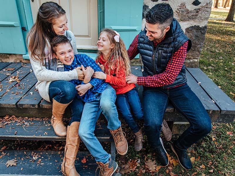 Séance famille sur la rive-sud de Montréal
