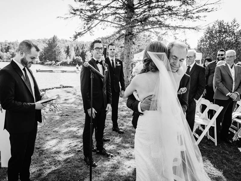 cérémonie de mariage à Mont-Tremblant