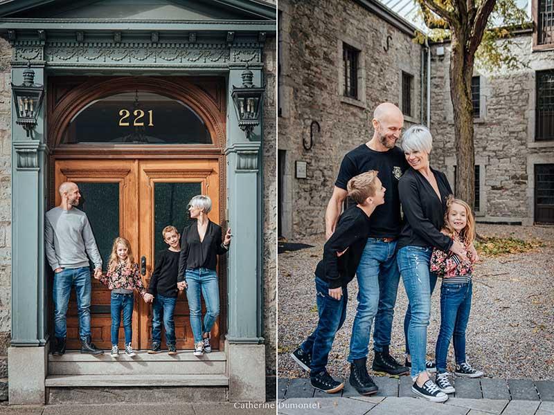 photos de famille dans le Vieux-Montreal