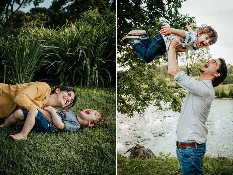 Séance famille enfant au Jardin Botanique