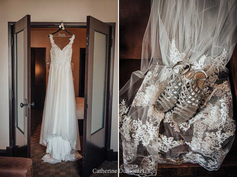 accessoires de la mariée à l'hôtel Place D'Armes